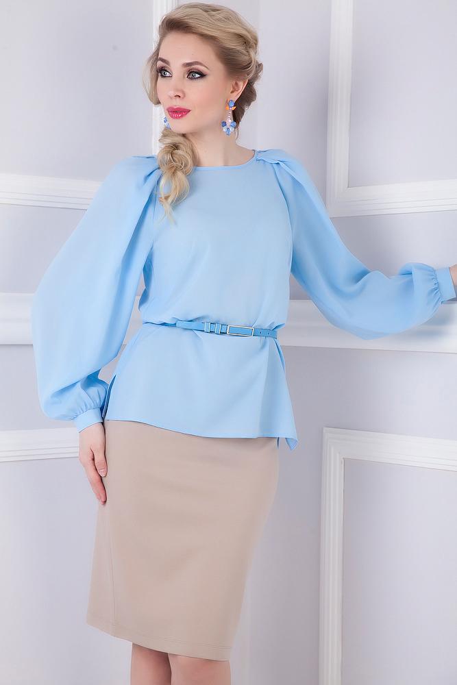 Женские Шелковые Блузки Фото С Объемным Рукавом