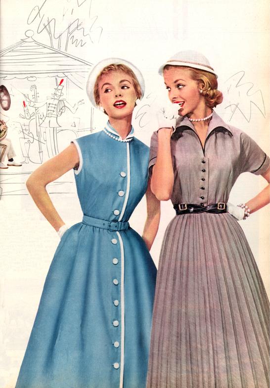 Женские платья 50 х годов