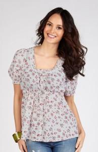 блузка с цветочным принтов вестерн
