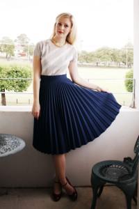 юбка с плиссировкой