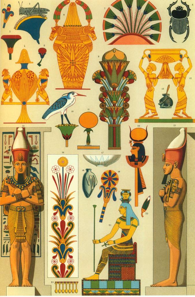 египетские принты
