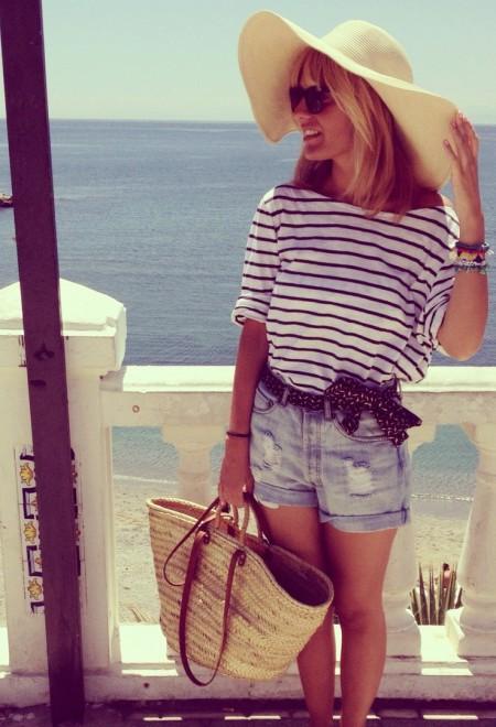 плетенная сумочка для пляжа