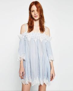 тренды лета 2016 платья с открытыми плечами