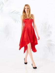 асимметричный крой платьев 2016