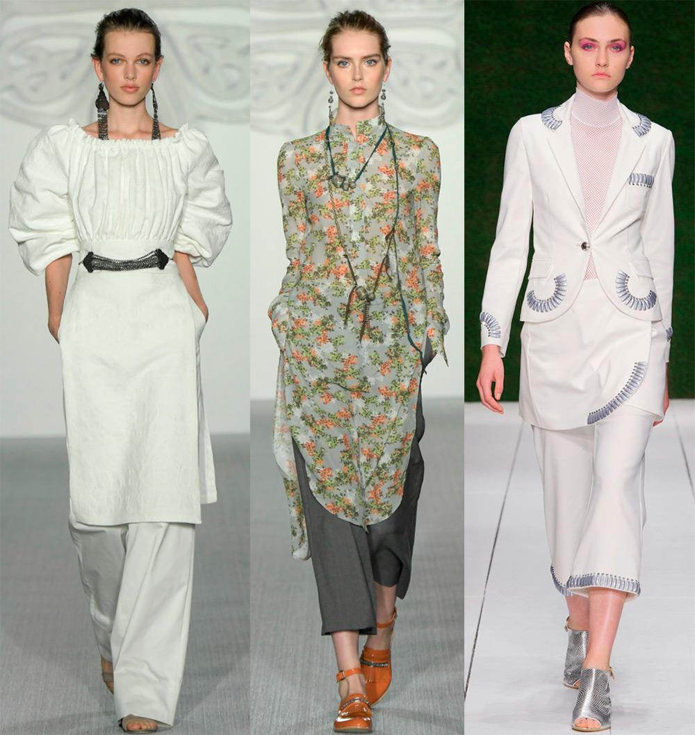 как носить платье с брюками рекомендации дизайнеров