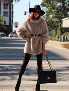 платье-свитер осенью