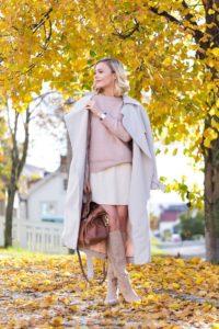 женственные образы с пальто