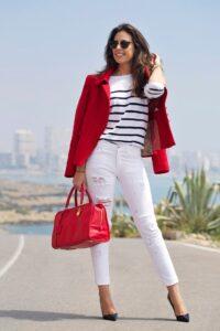 красный с белым в одежде