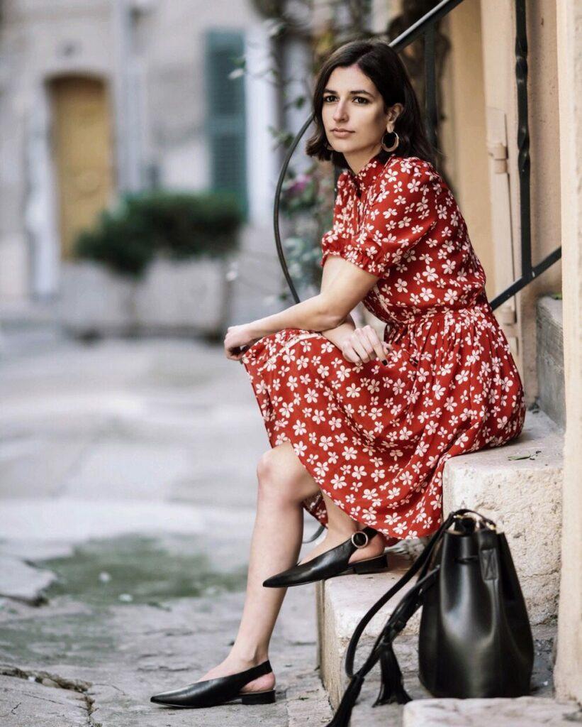 французский стиль платья